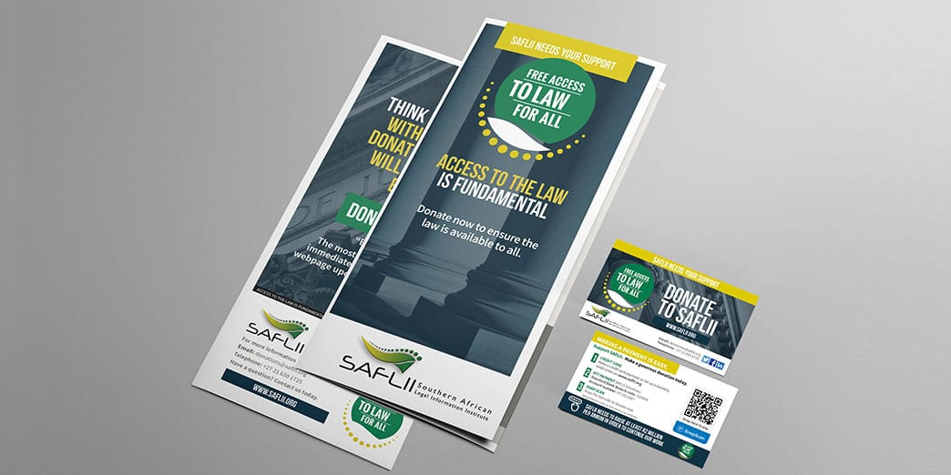 SAFLII Brochure for donations campaign